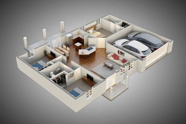 Ocala SFH - Holoram Floorplan