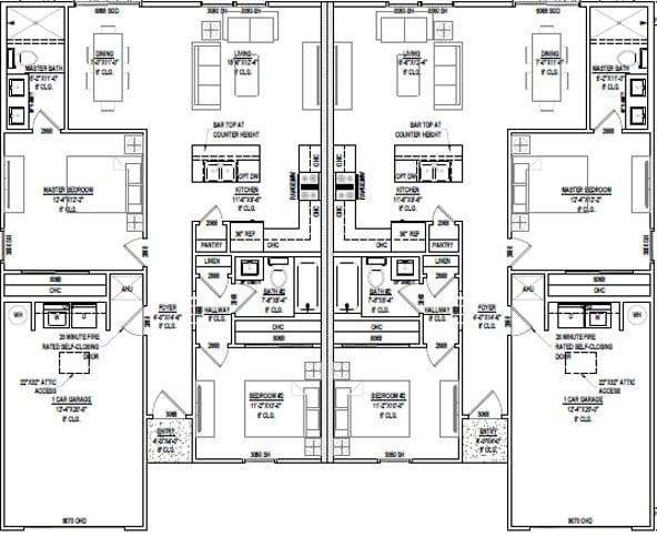 1954 sqft floorplan