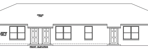 2933 Triplex Elevation