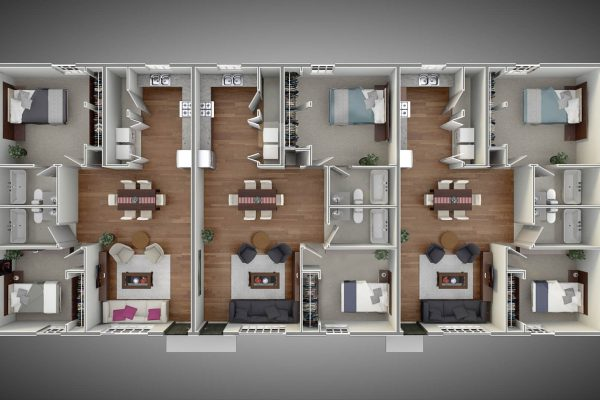 Triplex - Floor Plan