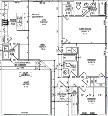 1209 sq ft floor plan