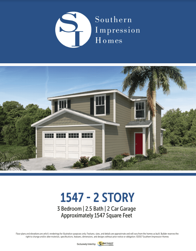 1547 square foot, 2 story house