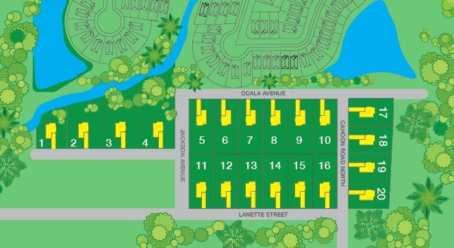 Marietta Estates Site Map