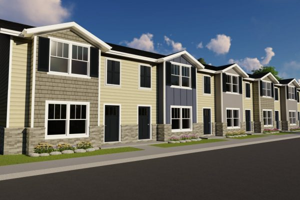 Oakley Station 6 plex rendering